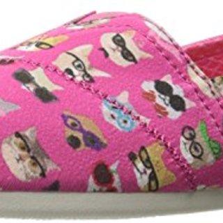 BOBS from Skechers Women's Plush - Kitty Flat, Hot Pink Kitty, 6 M US