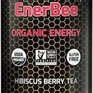 EnerBee Organic Sparkling Energy Drink, Honey Hibiscus Green Tea, 12-Ounce (Pack of 12) …