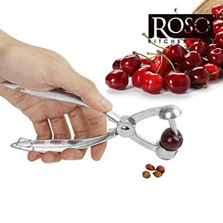 Roso Cherry Pitter & Olive Pitter Tool - Ergonomic Kitchen Gadget that Removes Pits from Cherries & Olives Quickly