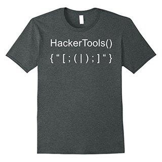 Mens Hacker Tools from Hacker Tool Kit for Hacking Coder T-Shirt 2XL Dark Heather