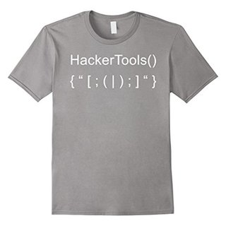 Mens Hacker Tools from Hacker Tool Kit for Hacking Coder T-Shirt XL Slate