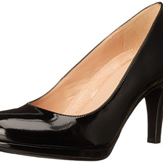 Naturalizer Women's Michelle Dress Pump, Black Shiny, 11 W US
