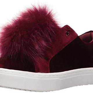 Sam Edelman Women's Leya Fashion Sneaker, Port Wine Velvet, 9 M US