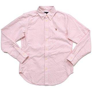 Ralph Lauren Womens Oxford Classic Fit Button Down Shirt (BSR Pink/White, S)