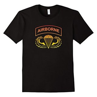 Airborne T-Shirt Jump Wings Gold