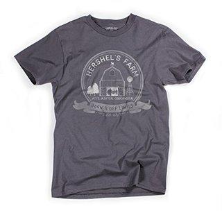 Superluxe™ Mens Hershels Farm Vintage Stlye Zombie Apocalypse Barn T-Shirt, Small, Dark Gray