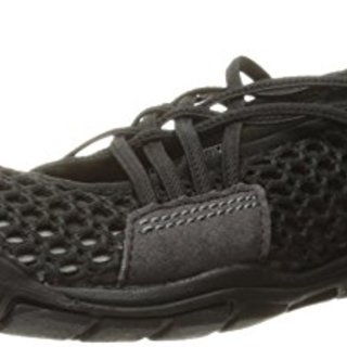 KEEN Women's CNX Zephyr Criss Cross Hiking Shoe, Black/Gargoyle, 8 M US