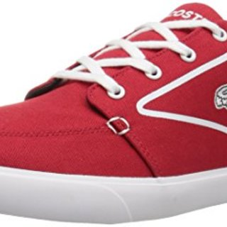 Lacoste Men's Bayliss Vulc 317 3, Red/White, 11.5 M US