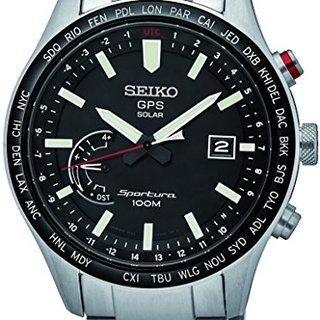 Seiko Sportura GPS Solar World Time SSF003J1 GPS solar watch With GPS