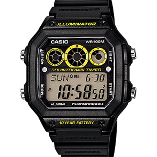 CASIO DIGITAL WATCH (AE-1300WH-1AVDF)
