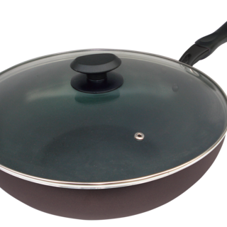 32CM WOK WITH LID WITH CERAMIC COATING (IH (IN-C32)