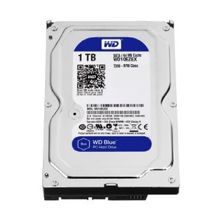Western Digital Blue WD10EZEX 1TB 7200 RPM 64MB Cache SATA 6.0Gb/s 3.5""