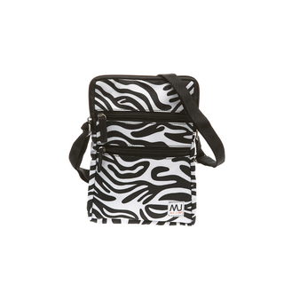 MJ BY MCJIM PRINTED CANVAS SLING BAG BGE05A-SPR-03 (WHITE)