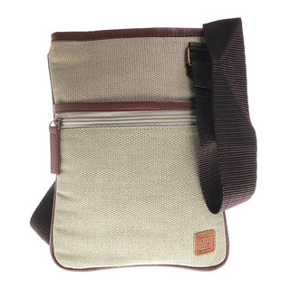 MJ BY MCJIM LADIES CANVAS SLING BAG LSBGE02-CV-15 (BEIGE)