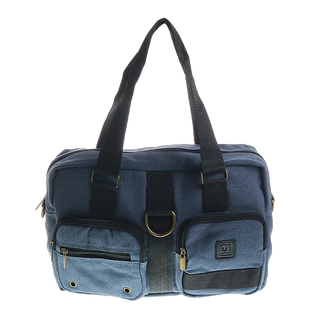 MJ BY MCJIM LADIES CANVAS SHOULDER BAG LSBGE03-CV-06 (BLUE)