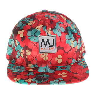 MJ BY MCJIM PRINTED CAP CPLF14-PR-11 (RED)