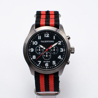 VALENTINO MEN'S ANALOG WATCH 20121737-RED AND BLACK