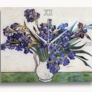 Vase with Irises Clock (Clock02)