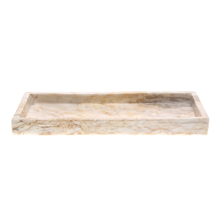 Marmol Stonework 5x12  Rectangular Marble Tray Century (MRT-512-C)