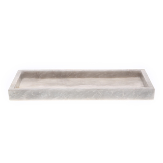 Marmol Stonework 5x12 Rectangular Marble Tray Gray (MRT-512-G)