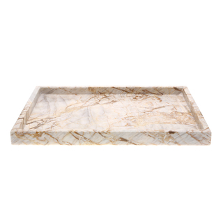 Marmol Stonework 8x12 Rectangular Marble Tray Century (MRT-812-C)
