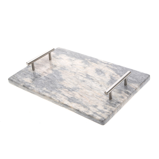 Marmol Stonework Rectangular Marble Cheese Platter Blue Century (MCHPLREC-BC)