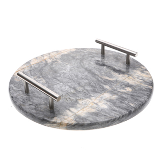 Marmol Stonework Circular Marble Cheese Platter Blue Century (MCHPLCIR-BC)