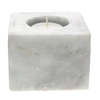 Marmol Stonework Square Marble Candleholder Graen Onyx (MSQCNDH-GO)
