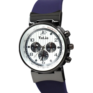 Valia Mens Rubber Strap Watch  (8196-2-BLW)