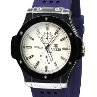 Valia Mens Rubber Strap Watch  (8190-2BL)