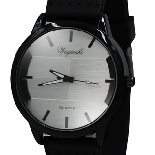 WEIJIESHI Lightweight Men's Black Rubber Strap Watch (WJQ-500-5)
