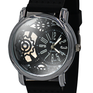 WEIJIESHI Lightweight Men's Black Rubber Strap Watch (WJQ-928-1-3)