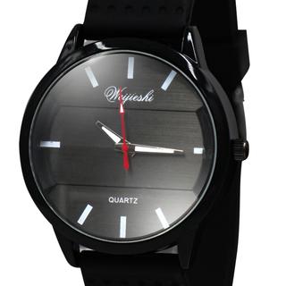 WEIJIESHI Lightweight Men's Black Rubber Strap Watch  (WJQ-500-7)