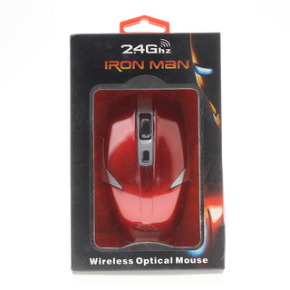 Iron Man Wireless Optical Mouse - Red