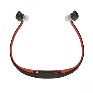 AEC Sport Bluettooth Headset with FM Radio And Mp3 Player - Red