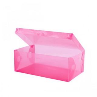 Transparent Shoe Box 33 x 20.5 x 12.5 cm - Pink