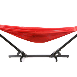 Jong Duyan Portable And Foldable Adult Hammock (Red with Black Base)