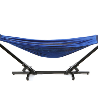 Jong Duyan Portable And Foldable Adult Hammock (Blue with Black Base)