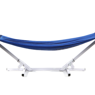 Jong Duyan Portable And Foldable Adult Hammock (Blue with White Base)