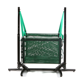 Jong Duyan Swinging And Folding Baby Crib (Green with Black Base)