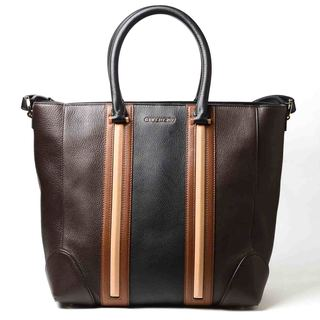 Givenchy Lucrezia Tricolor Tote (Dark Brown/Beige/Brown)