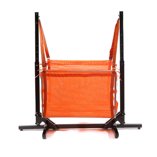 Jong Duyan Swinging And Folding Baby Crib (Orange with Black Base)