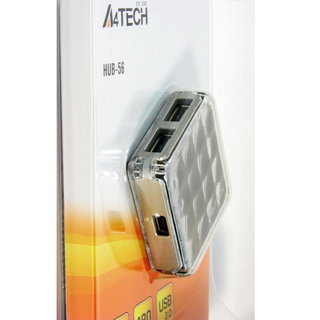 A4-TECH HUB-56-3 /Pocket Hub(Silver)