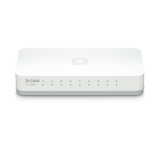 D-Link DES-1008A /8-Port 10/100 Desktop Switch (White)