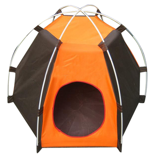 Outdoor Dog Puppy House Tent (Orange/Brown)