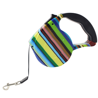 Petpals Rainbow Stripes 4.5M Automatic Retractable Dog Leash