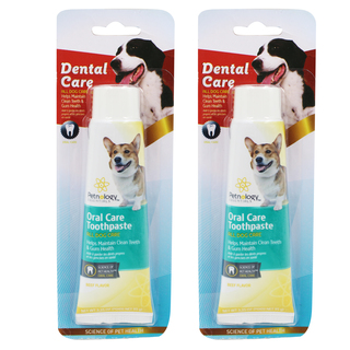 Dental Care Dog Beef Flavor Toothpaste Set of 2