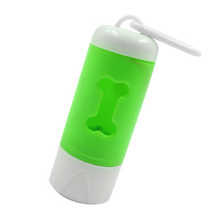 Petpals 2-in-1 Flashlight and Dog Waste Poop Holder (Green)