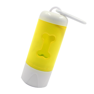 Petpals 2-in-1 Flashlight and Dog Waste Poop Holder (Yellow)