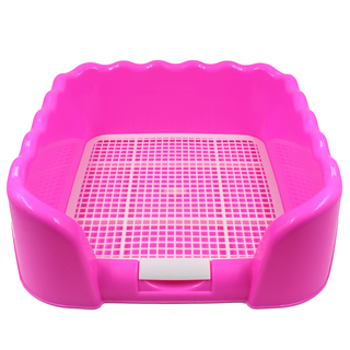 Pet Dog Cat Litter Tray Sand Box (Pink)